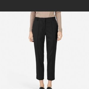 Everlane wool trousers with slits